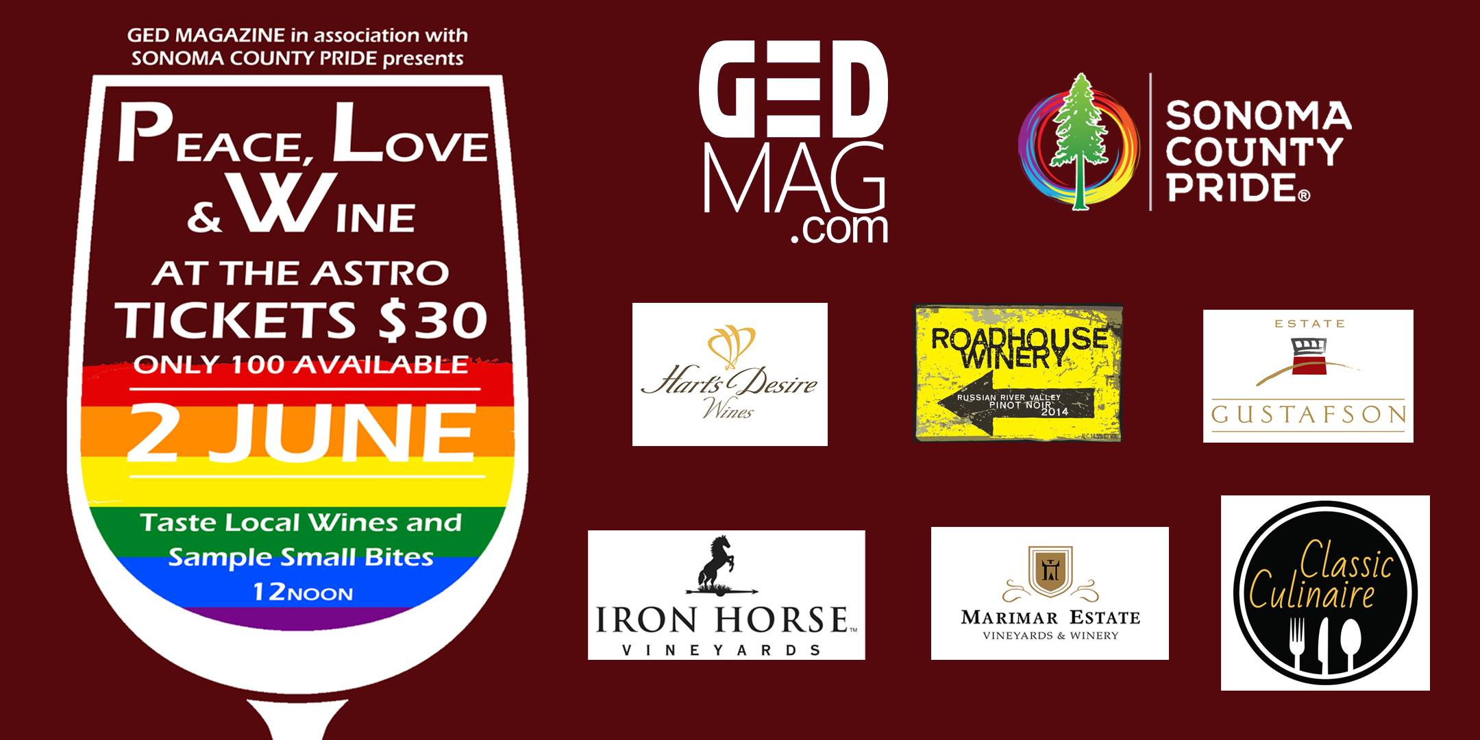 GED Magazine Presents: Peace, Love & Wine