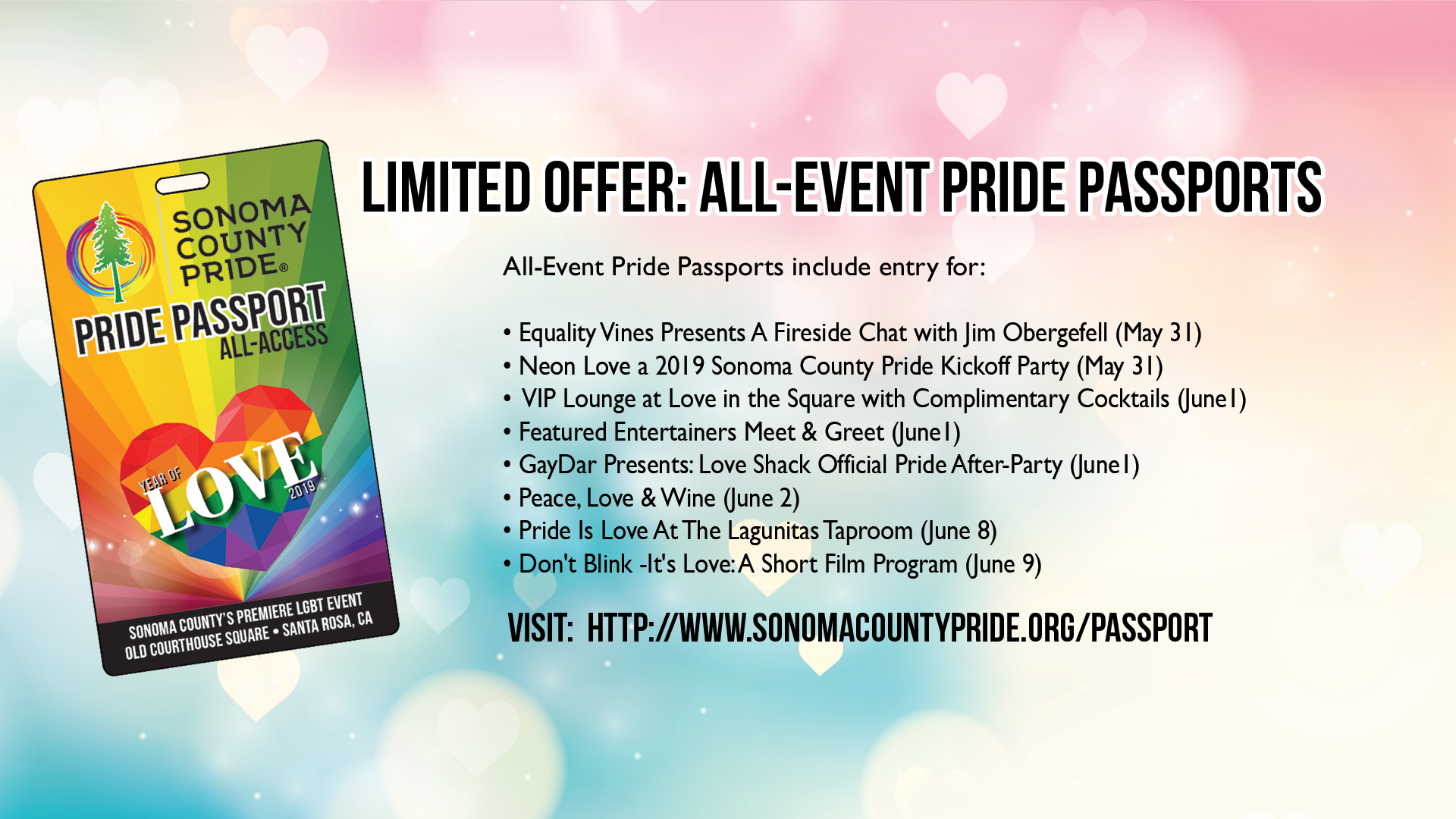 2019 All-Access Pride Passport